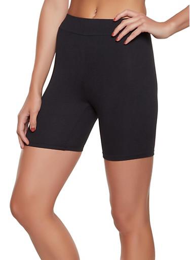 Soft Knit Solid Bike Shorts,BLACK,large