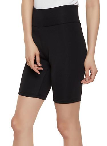 Scuba Knit Bike Shorts,BLACK,large