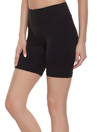 Soft Knit Bike Shorts | 1411072291111,BLACK,large