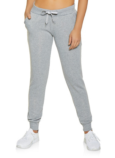 Fleece Lined Joggers,HEATHER,large