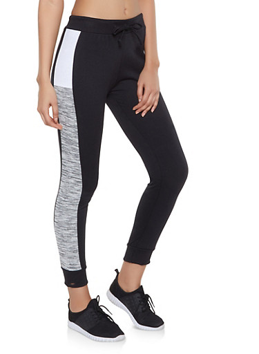 Color Block Joggers,GRAY,large