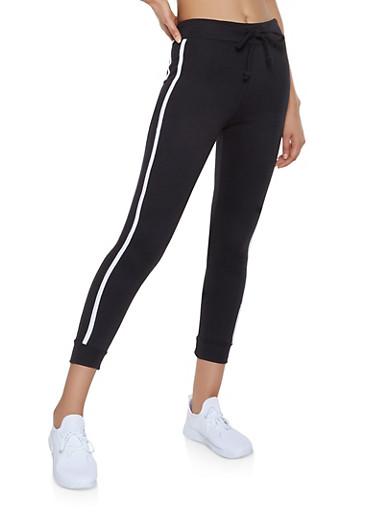 Varsity Stripe Joggers,BLACK,large