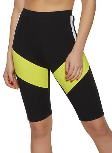 Tri Tone Soft Knit Bike Shorts,BLACK,large