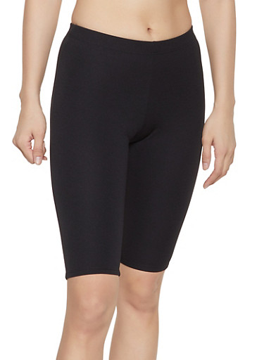 Textured Knit Bike Shorts,BLACK,large