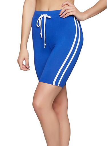 Varsity Stripe Bike Shorts,RYL BLUE,large