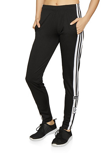 Varsity Stripe Track Pants,BLACK,large