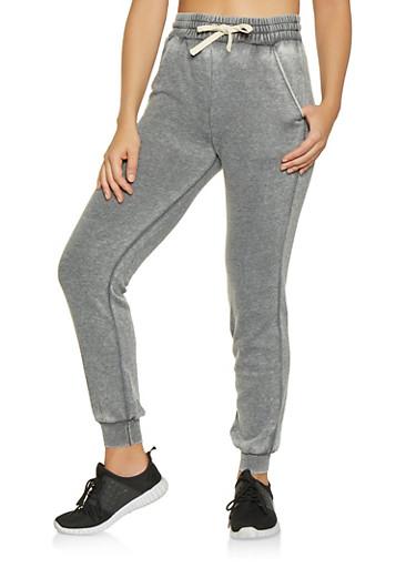 Fleece Lined Sweatpants,CHARCOAL,large