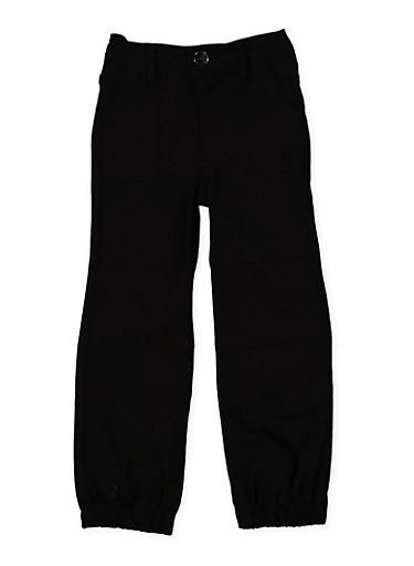 Girls 4-6x Hyperstretch Joggers | Black,BLACK,large