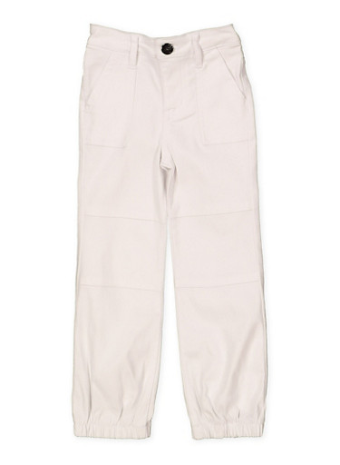Girls 4-6x Hyperstretch Joggers | White,WHITE,large