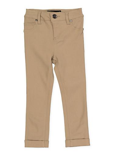 Girls 4-6x Cuffed Hyperstretch Pants | Khaki,KHAKI,large