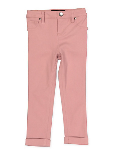 Girls 4-6x Cuffed Hyperstretch Pants | Pink,ROSE,large