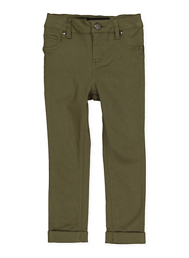 Girls 4-6x Cuffed Hyperstretch Pants | Green,OLIVE,large