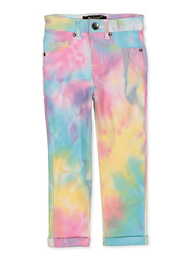 Girls 4-6x Hyperstretch Tie Dye Pants,MULTI COLOR,large