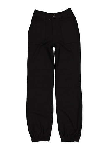Girls 7-16 Hyperstretch Joggers,BLACK,large