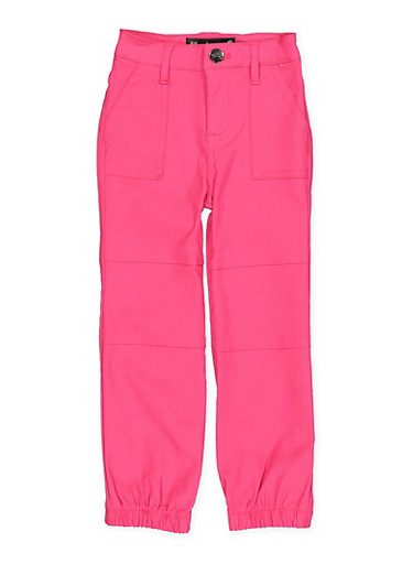 Girls 7-16 Hyperstretch Pork Chop Pocket Joggers | Fuchsia Pink,FUCHSIA,large