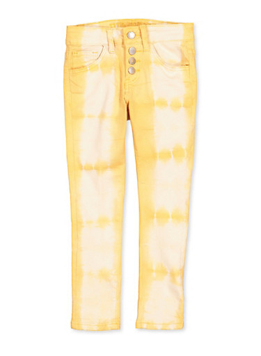 Girls 7-16 VIP Cloud Wash 4 Button Jeans,MUSTARD,large