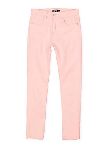 Girls 7-16 Stretch Twill Pants | Blush,BLUSH,large