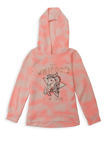 Girls 7-16 This Unicorn Is Off Duty Sweatshirt,PINK,large