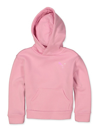 Little Girls Puma Hooded Sweatshirt,PINK,large