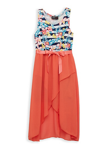 Girls 7-16 Tulip Hem Skater Dress,IVORY,large
