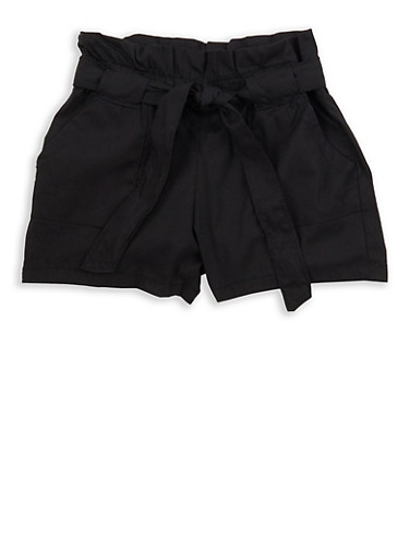 Girls 4-6x Paper Bag Waist Shorts | Tuggl