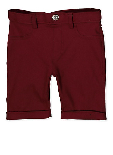 Girls 4-6x Hyperstretch Bermuda Shorts | Burgundy,WINE,large