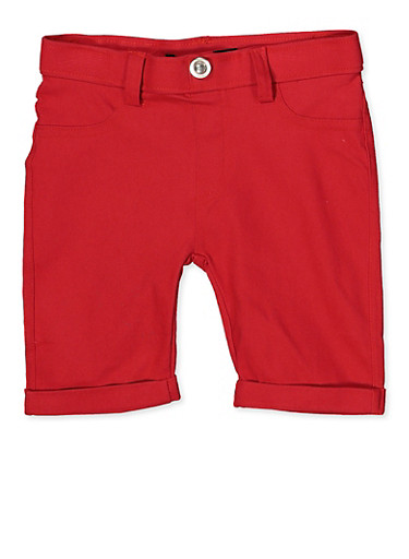 Girls 4-6x Hyperstretch Bermuda Shorts | Red,RED,large