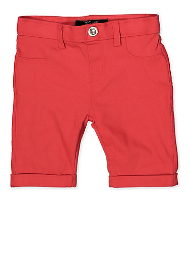 Girls 4-6x Hyperstretch Bermuda Shorts | Coral,CORAL,large