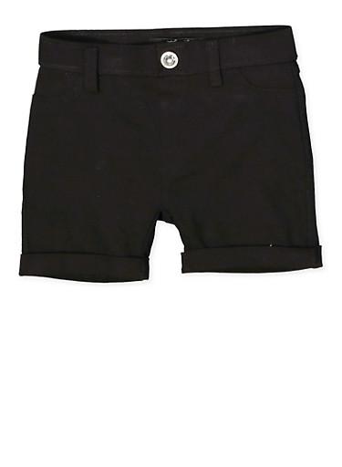 Girls 4-6x Hyperstretch Shorts | Black,BLACK,large
