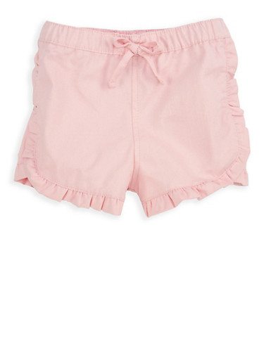 Girls 7-16 Blush Twill Shorts,BLUSH,large