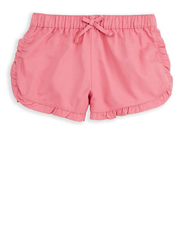 Girls 7-16 Mauve Twill Shorts,MAUVE,large