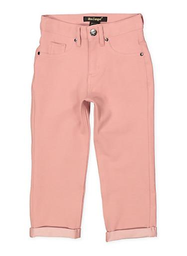 Girls 7-16 Fixed Cuff Stretch Pants | Mauve,MAUVE,large