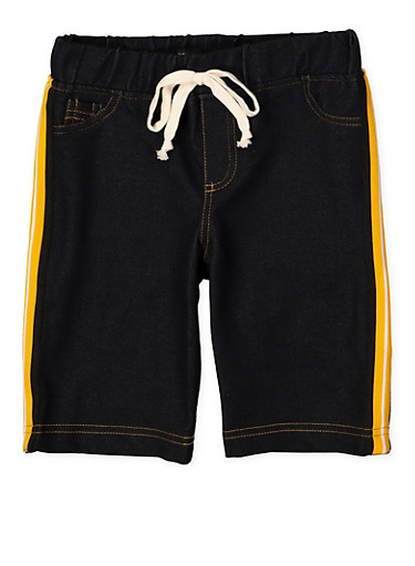 Girls 7-16 Denim Knit Bermuda Shorts | 1621056570062,MUSTARD,large