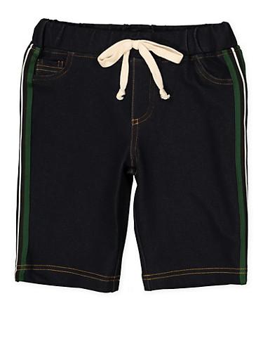 Girls 7-16 Denim Knit Bermuda Shorts | 1621056570063,GREEN,large
