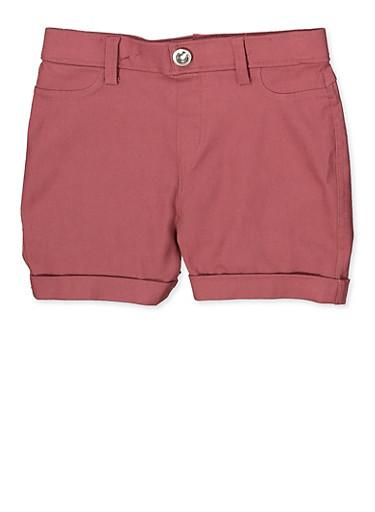 Girls 7-16 Hyperstretch Shorts | Mauve,MAUVE,large