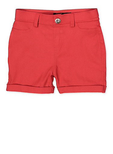 Girls 7-16 Hyperstretch Shorts | Coral,CORAL,large
