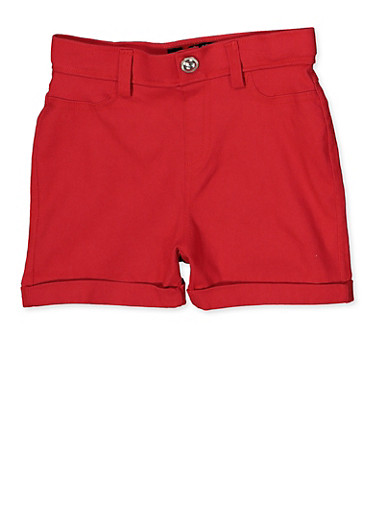Girls 7-16 Hyperstretch Shorts | Red,RED,large