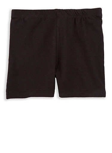 Girls 4-6x Bike Shorts,BLACK,large