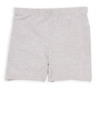 Girls 4-6x French Toast Bike Shorts,HEATHER,large