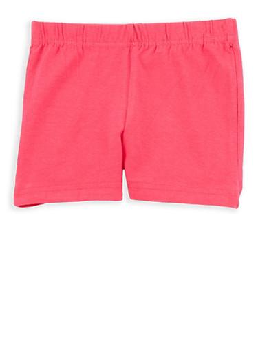 Girls 4-6x French Toast Bike Shorts,FUCHSIA,large