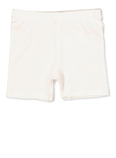 Girls 4-8 French Toast Bike Shorts   White,WHITE,large