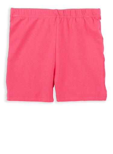 Girls 7-16 French Toast Bike Shorts,FUCHSIA,large