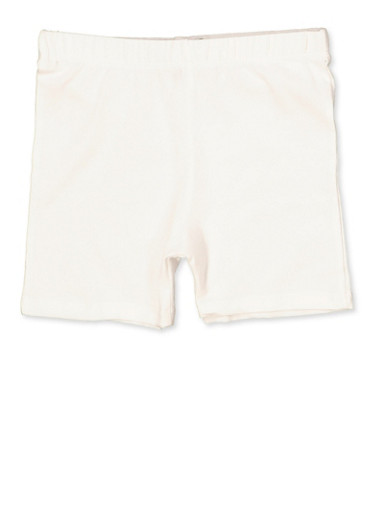 Girls 7-16 French Toast Bike Shorts | White,WHITE,large