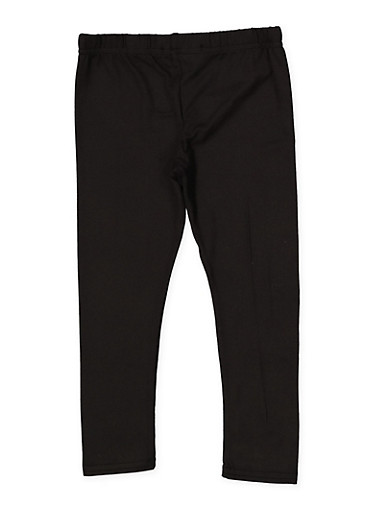 Girls 7-16 Basic Soft Knit Leggings,BLACK,large