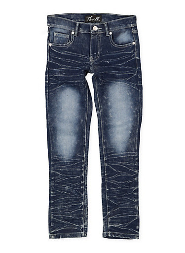 Girls 7-16 Whisker Wash Skinny Jeans | 1629063400120,DENIM,large