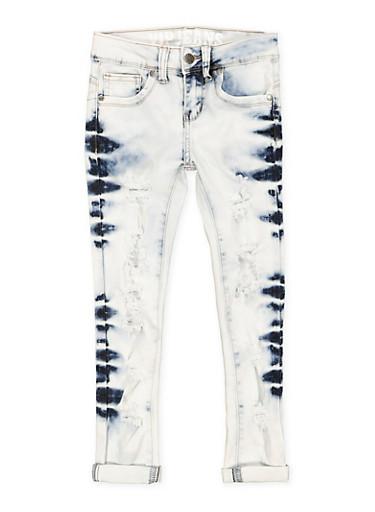 Girls 7-16 VIP Cloud Wash Skinny Jeans,DENIM,large