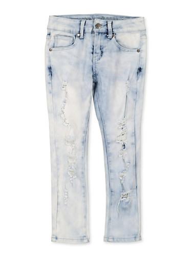 Girls 7-16 VIP Cloud Wash Skinny Jeans,MEDIUM WASH,large