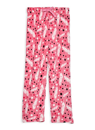 Girls 7-16 Feather Fleece Pajama Pants | Tuggl