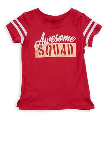 Girls 7-16 Soft Knit Graphic T Shirt,FUCHSIA,large
