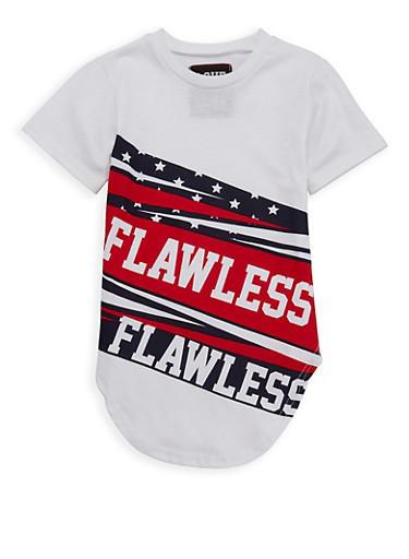 Girls 7-16 Flawless Graphic Tee,WHITE,large